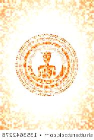 Photo of graduation icon #abschluss #abschlussfeier graduated icon inside abstract orange…