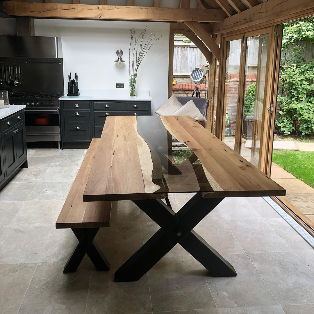Ennis Brown Furniture On Instagram Handcrafted River Table Delivered Today 300 X 120 Cm Bespoke Dining Table Solid Oak Dining Table Custom Dining Tables