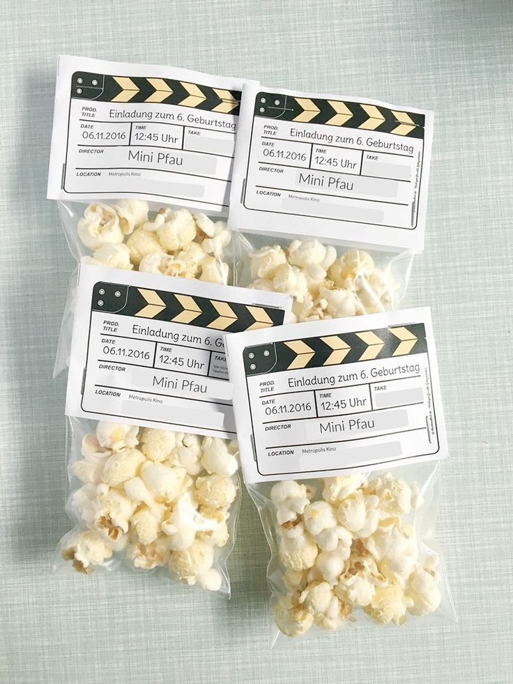 DIY Einladung Kindergeburtstag | Kino U0026 Popcorn