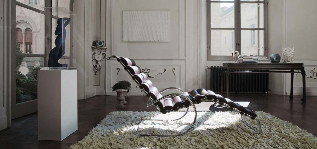 Adjustable Mr Chaise Lounge By Mies Van Der Rohe Manufactured By Knoll 1927 Steel Furniture Design Mies Van Der Rohe Small Bedroom Furniture