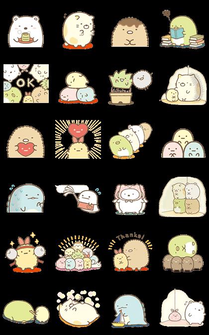 Sumikko Gurashi Animated Line Stickers Cute Stickers Cute Kawaii Drawings Kawaii Drawings