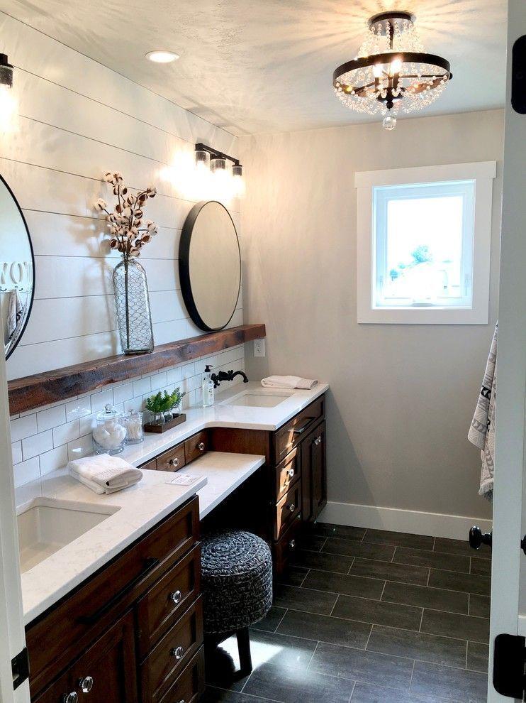 53 Enchanting Diy Fairy Garden Ideas In 2020 Farmhouse Bathroom Mirrors Shiplap Bathroom Master Bathroom Vanity