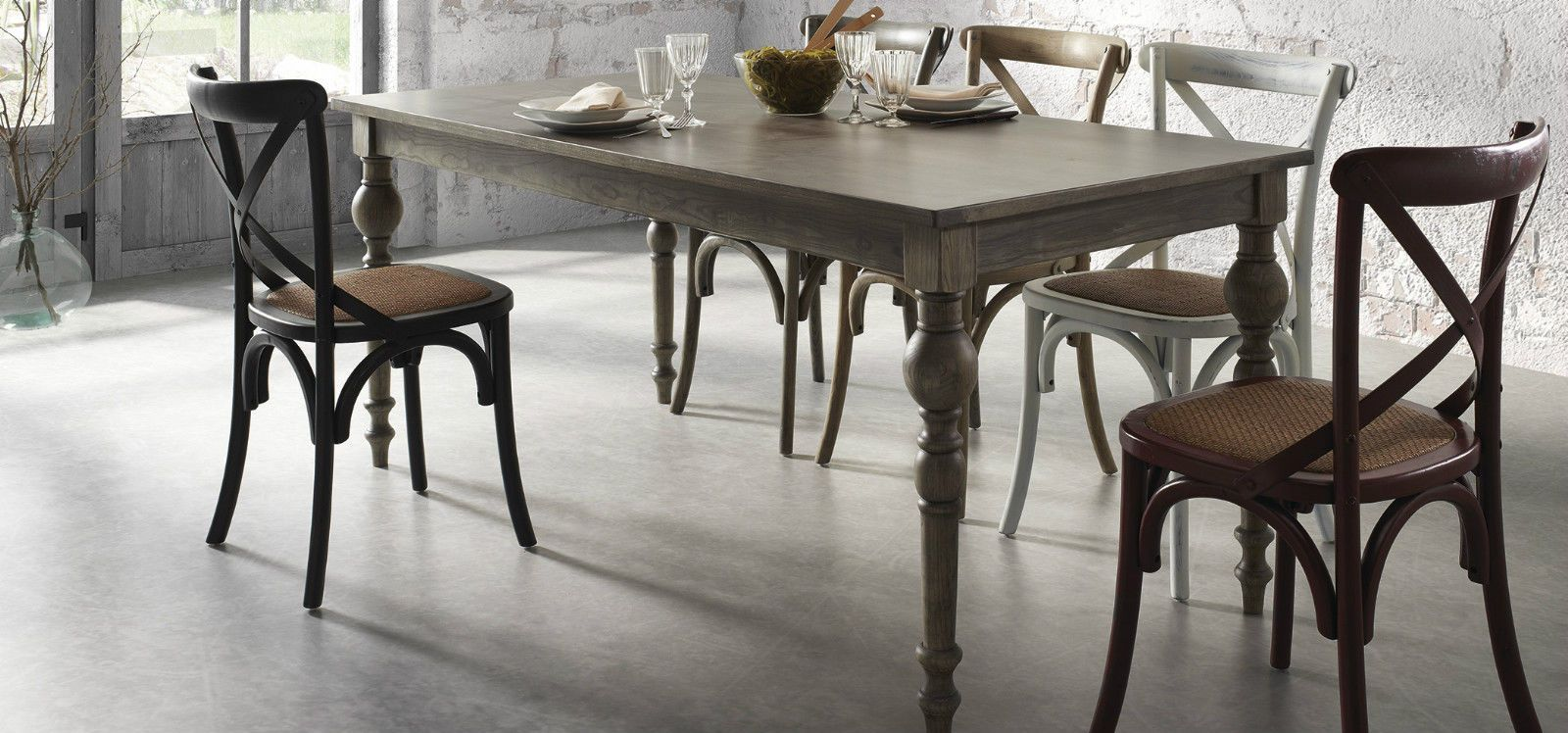 Tavolo Design Bistro Vintage Industriale Classico Legno Fisso Barocco Ottocento Sedia Per Sala Da Pranzo Sedie Per Tavolo Da Pranzo Tavoli Da Pranzo