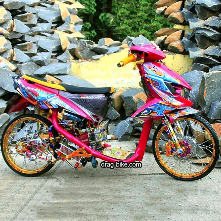 Modifikasi Mio Soul Gt Thailook Airbrush Drag Racing Velg 17 Motor
