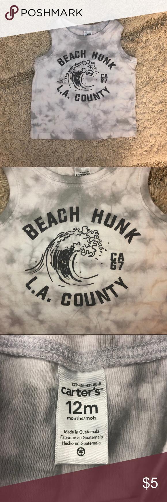 5/$20! Carter's Beach Hunk Muscle Tank NWOT Never Worn 12