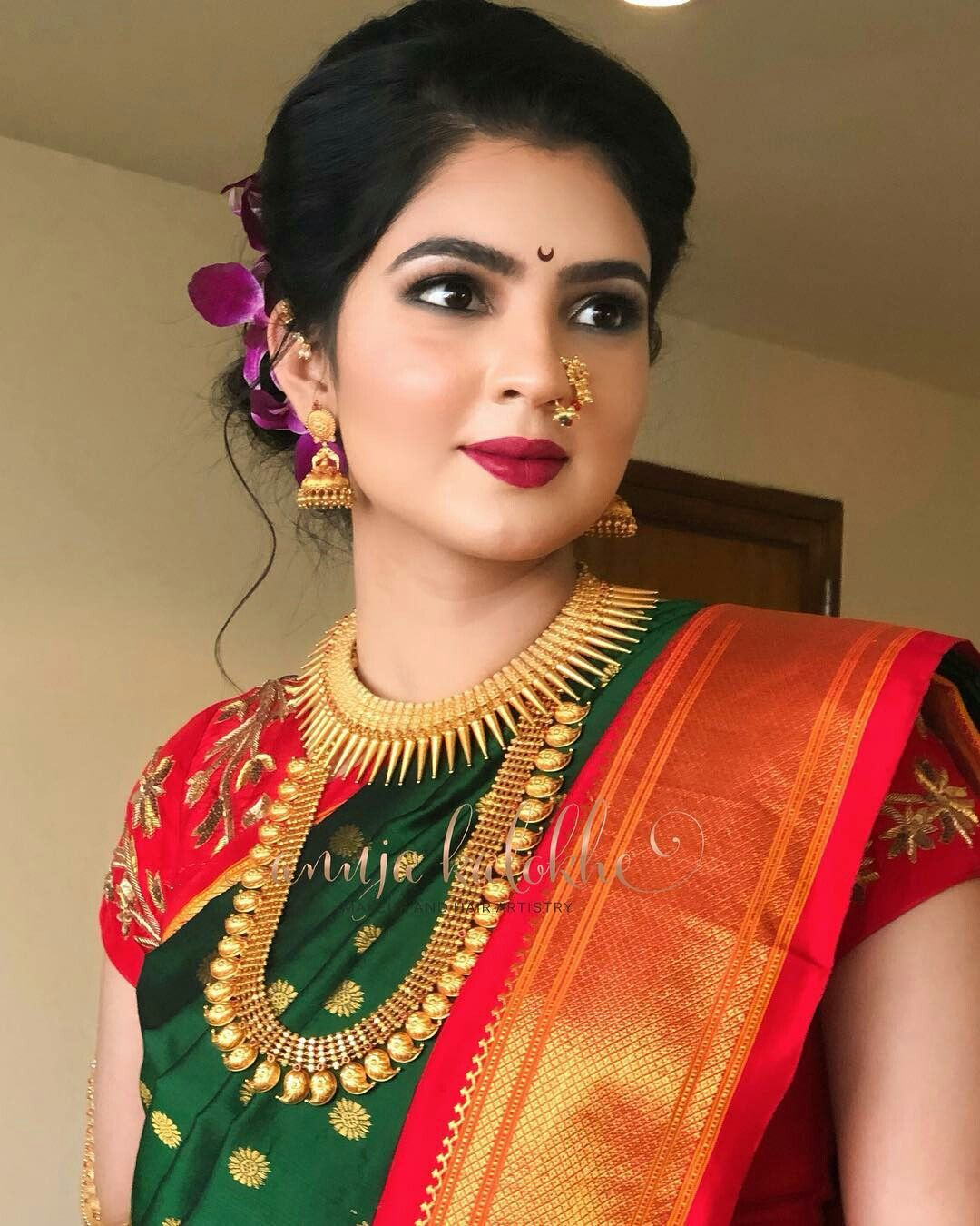 Wedding Hairstyle Maharashtrian: Wedding Saree Indian, Indian Bridal, Bridal