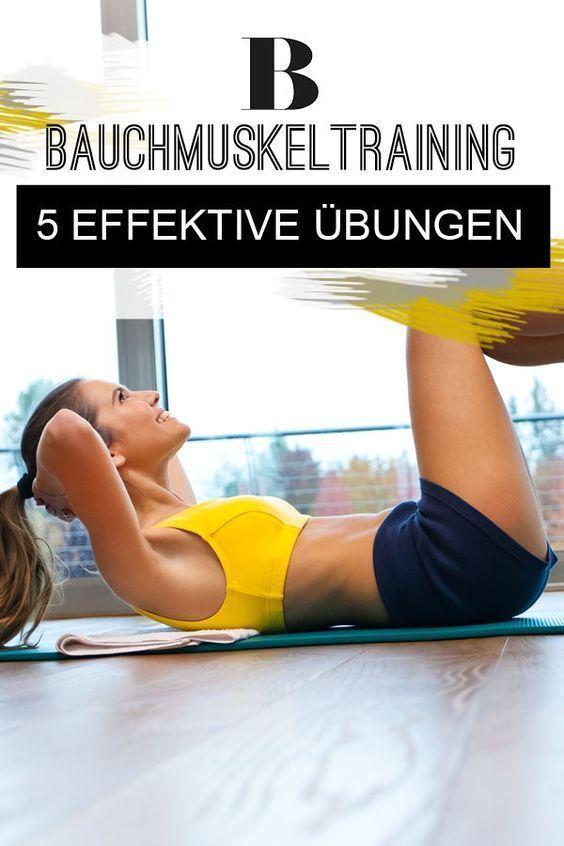 Bauchmuskeltraining: 5 effektive Übungen für einen flachen Bauch    Bauchmuskeltraining: 5 effektive...