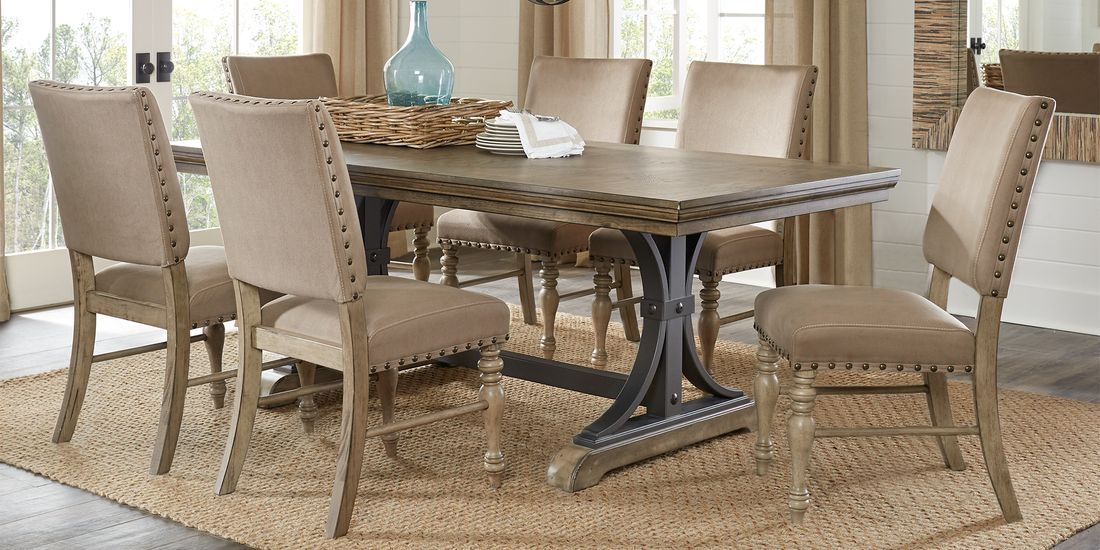 sierra vista driftwood 5 pc rectangle dining set rooms on rooms to go dining room furniture id=51222