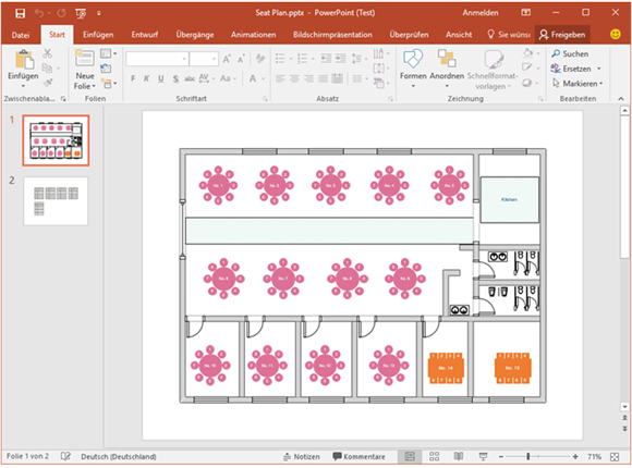 PowerPoint Sitzplan Vorlage Planer, Vorlagen und Sitzplan