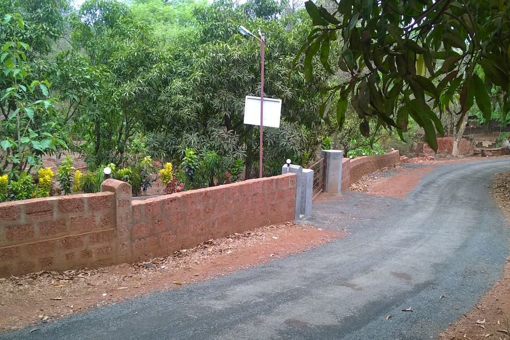 THE ENTRANCE TO VILLAGE NIRVANA Village, Farm, Bungalow