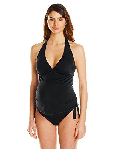 Prego maternity black dot bikini #5