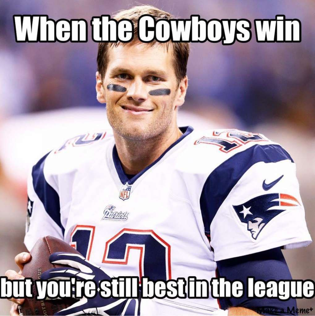 Cowboys Haters Fans Alike Targets Of Nfl Memes New England Patriots Football New England Patriots Patriots Football