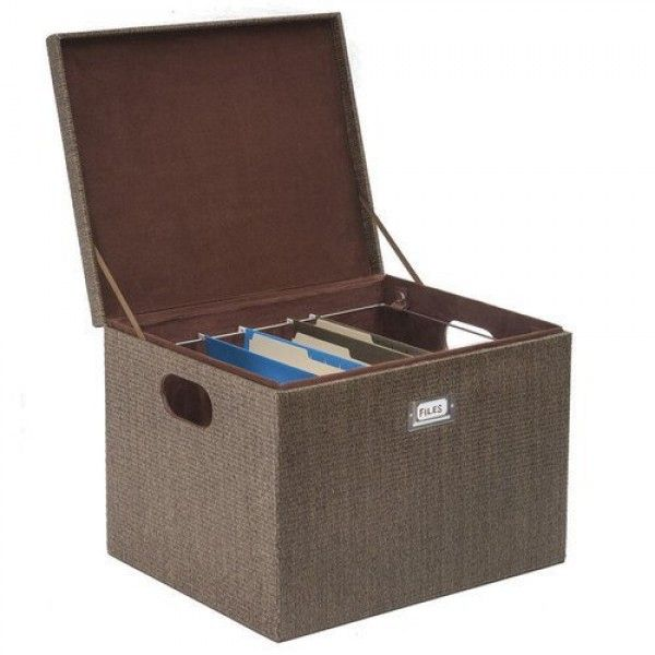 Decorative Office File And Portable Storage Box For Hanging Folders Letter Or Legal Great