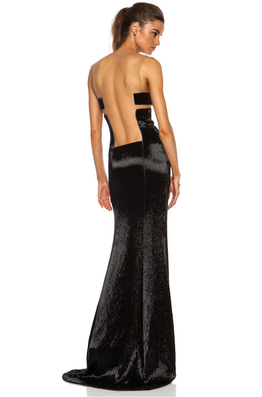 Kaufmanfranco Liquid Glass Column Gown In Onyx Column Gown Fashion Couture Fashion [ 1440 x 953 Pixel ]
