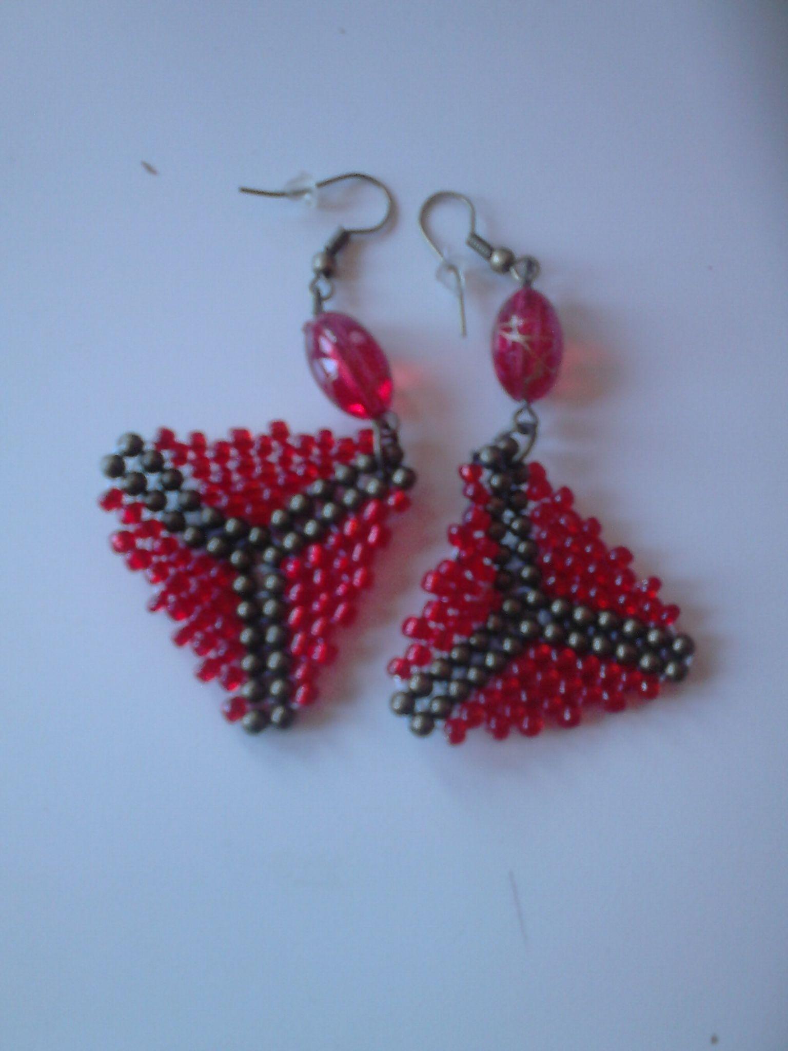 007291fe7519 pendientes y pulseras hechas con abalorios