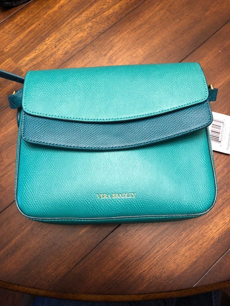 b7be268aadad NWT Vera Bradley Twice As Nice Teal Leather Crossbody Bag  fashion   clothing  shoes  accessories  womensbagshandbags (ebay link)
