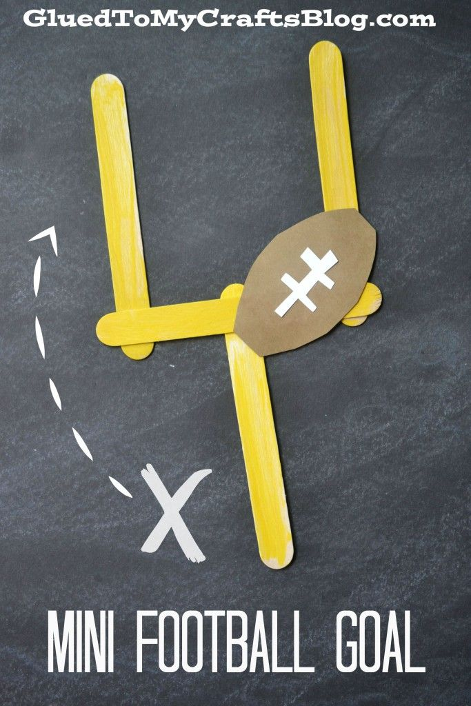 Who said school can't be all fun and games? Craft a mini football goal to play with during recess or after school with tutorial by Glued To My Crafts. What a fun way to celebrate the start of the football season!