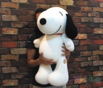 "Crocheted 27"" Snoopy ... !!!"