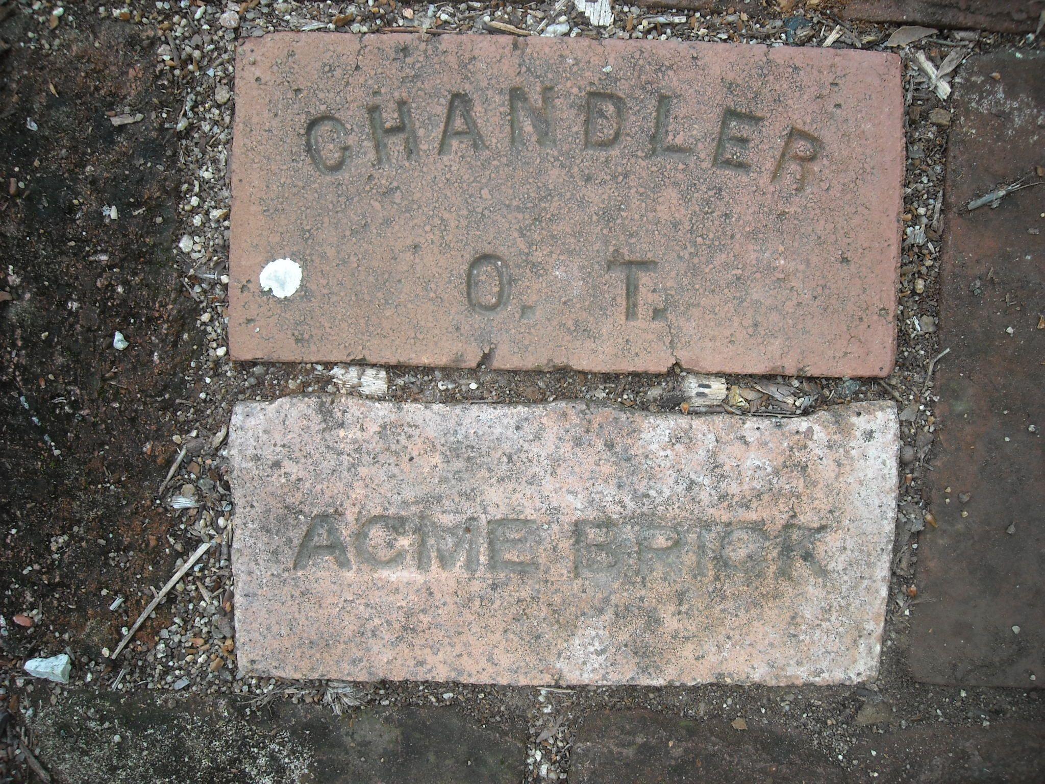Chandler ot oklahoma territory and acme brick
