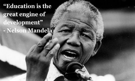 "Famous Education Quotes Captivating Education Is The Great Engine Of Development"" Nelson Mandela"