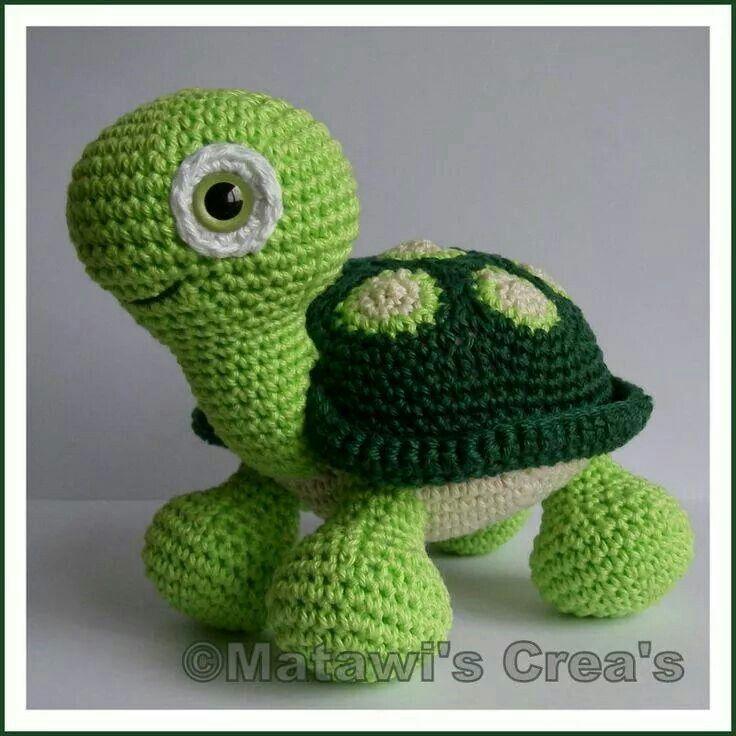 Tortuga   muñecos de lana   Pinterest   Tortuga, Patrones amigurumi ...