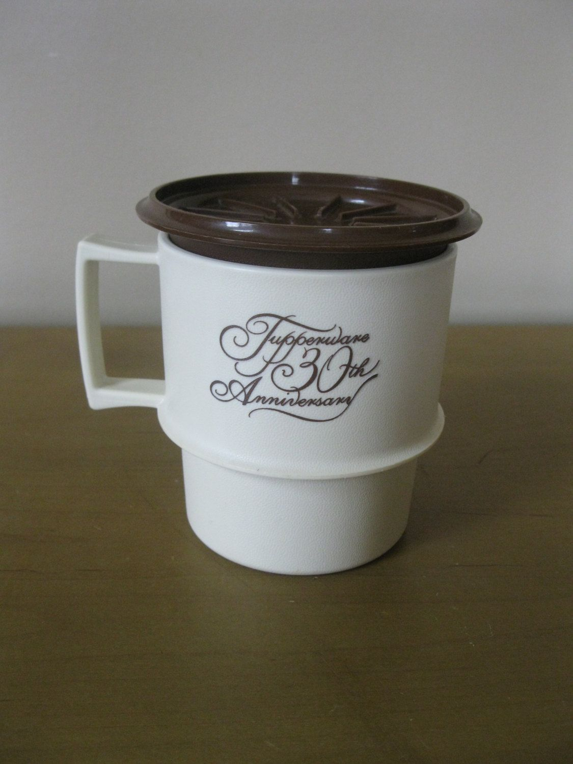 Vintage Tupperware 30th Anniversary mug WITH coaster