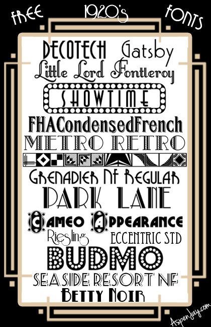 15 free 1920s fonts art deco fonts great gatsby fonts whatever you want to call them