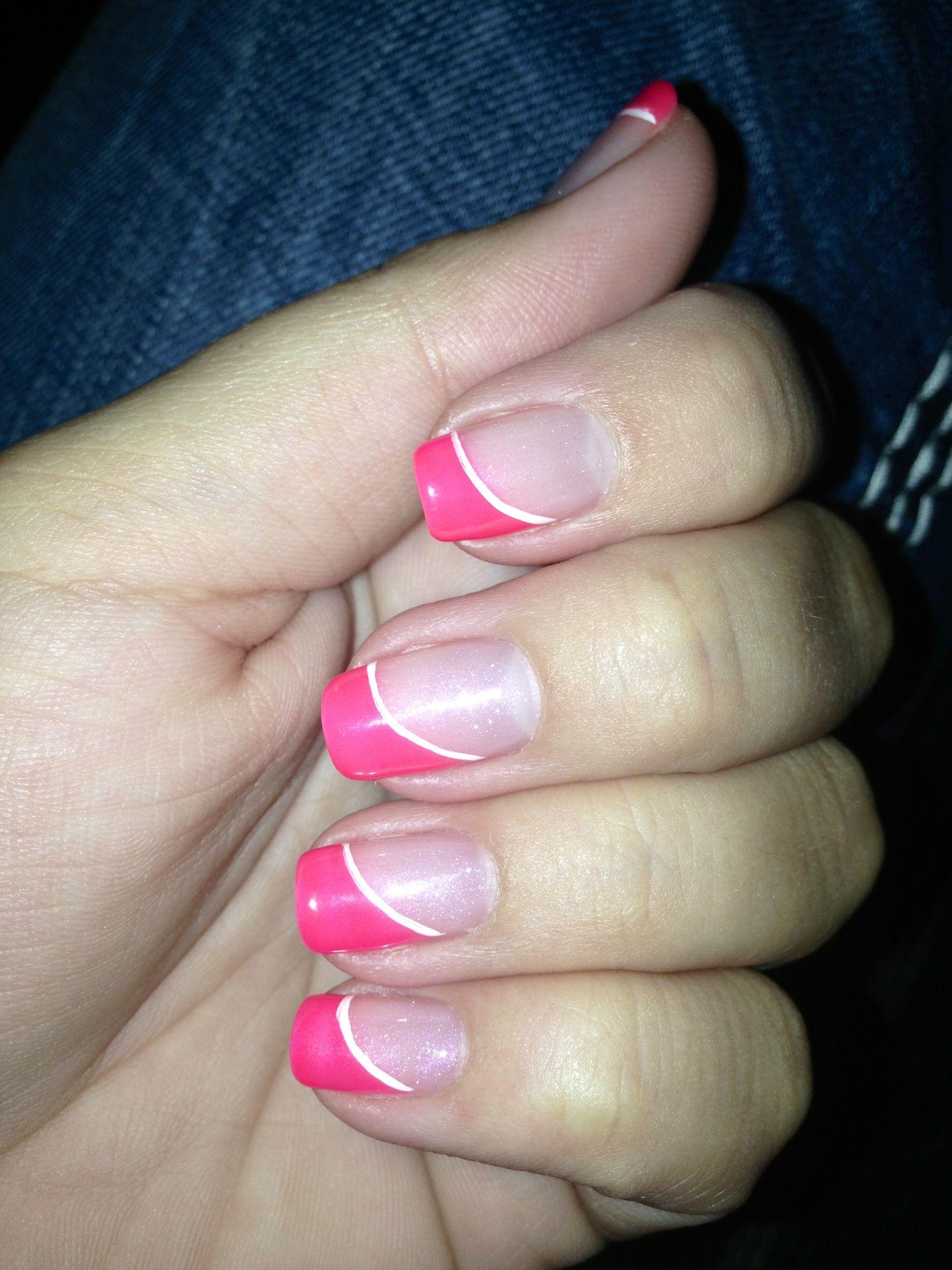 Pink Slant French Manicure   Beauty - Nails   Pinterest   Manicure ...