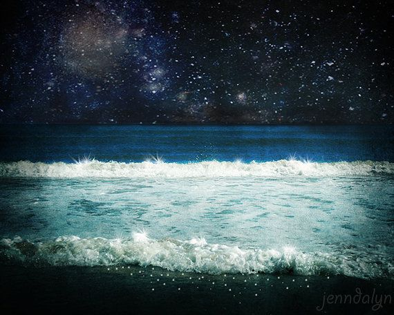 Nighttime Ocean Photography Surreal Ocean Landscape By Jenndalyn Ocean Photography Ocean At Night Surrealism Photography