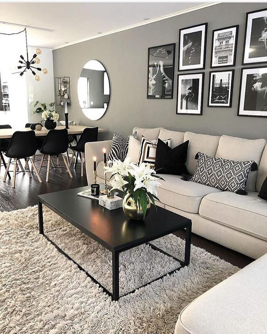 7 Living Room Ideas For People Living In Small Apartments: Image May Contain: People Sitting, Table, Living Room And