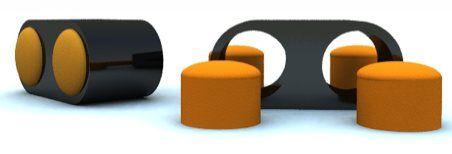 Table basse avec poufs intégrés | Table basse avec pouf, Pouf et ...