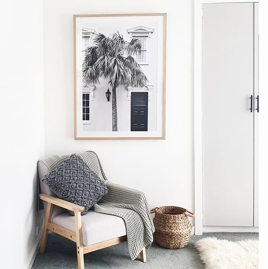 "Boho Art & Styling on Instagram: ""Beautiful shot of a cosy corner styled by @ch_abode_homestyling featuring our PALM ENTRANCE II print."""