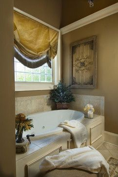 Garden Tubs Design Ideas, Pictures, Remodel, And Decor   Page 10 ***.  Window Trtmt For Frosted Glass Window Awesome Design