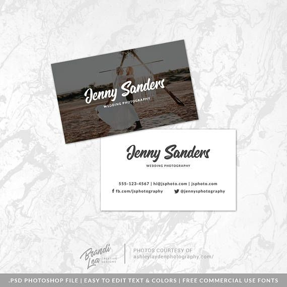 Instant download business card photoshop template photography instant download business card photoshop template photography reheart Images