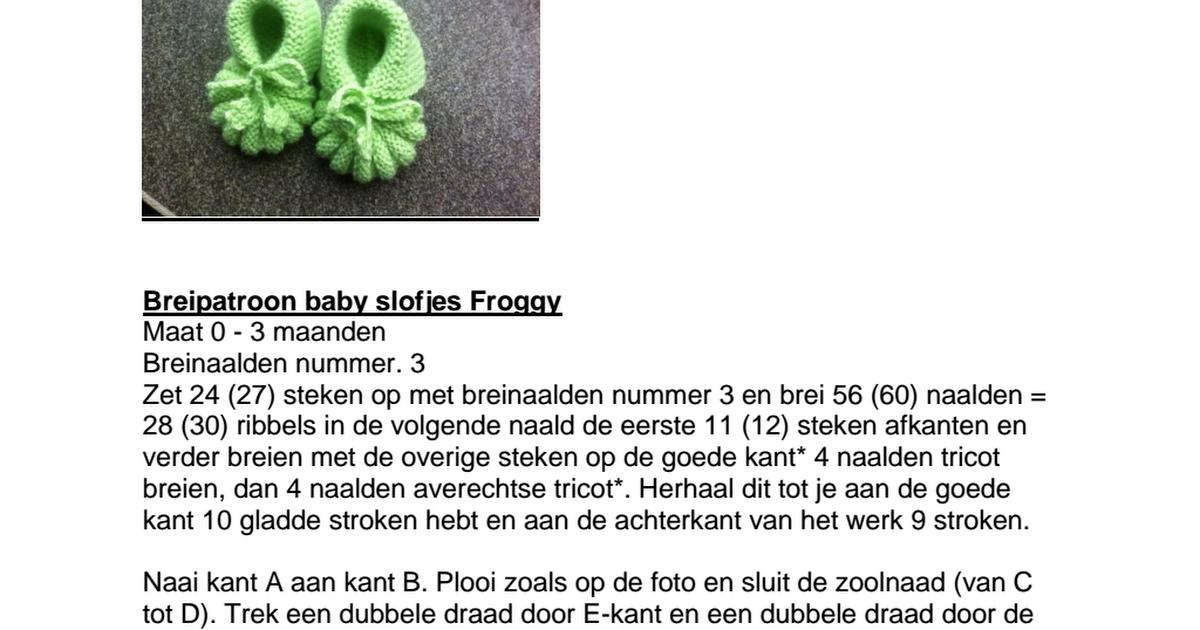 Breipatroon baby slofjes Froggy.pdf - Google Drive