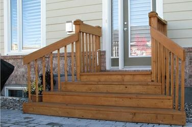 Best Wooden Steps And Deck Wooden Porch Porch Steps Front 400 x 300