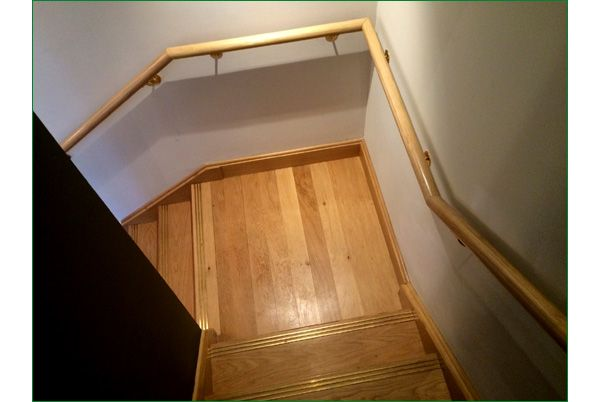 Trinity restaurant staircase oak staircase with a for Quarter landing staircase