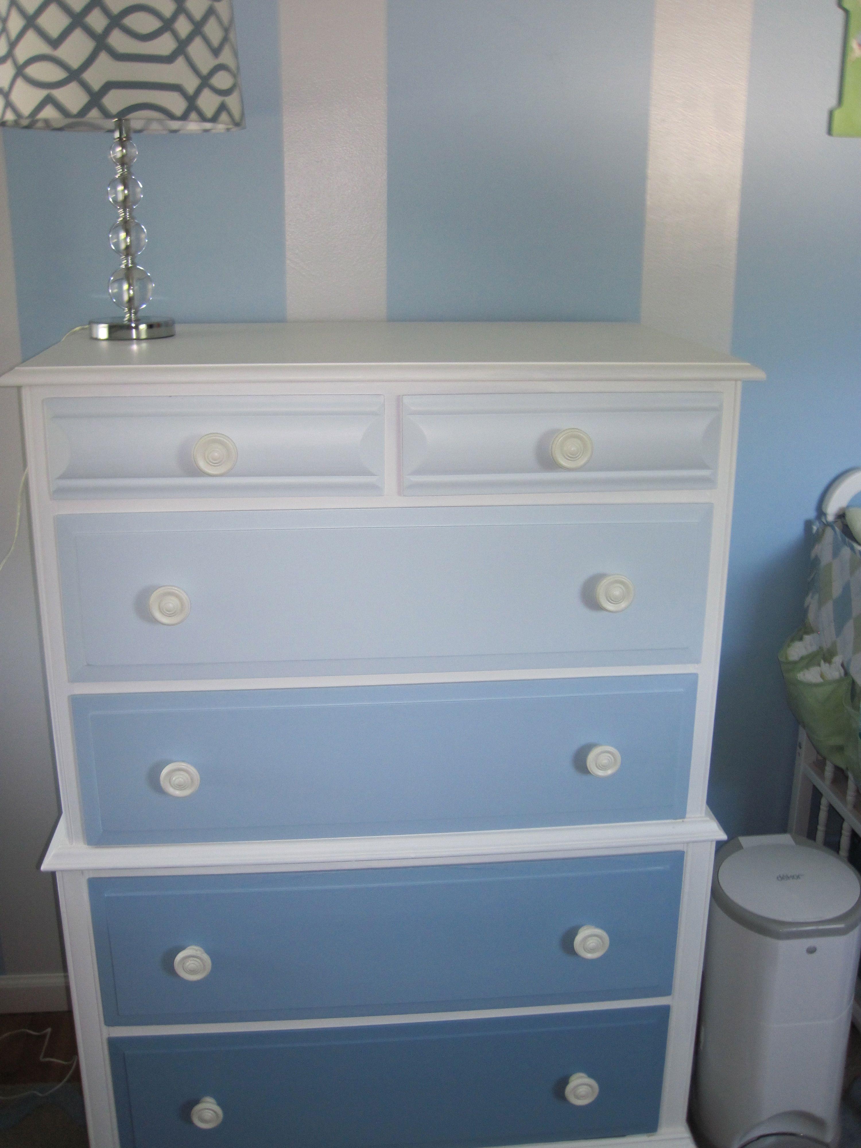 Baby Boy Nursery Ombre Dresser