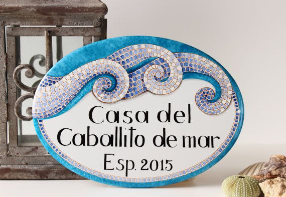 Beach Sign Decor Classy Mosaic Decor House Beach Sign House Sign Coastaldipintoadarte Review