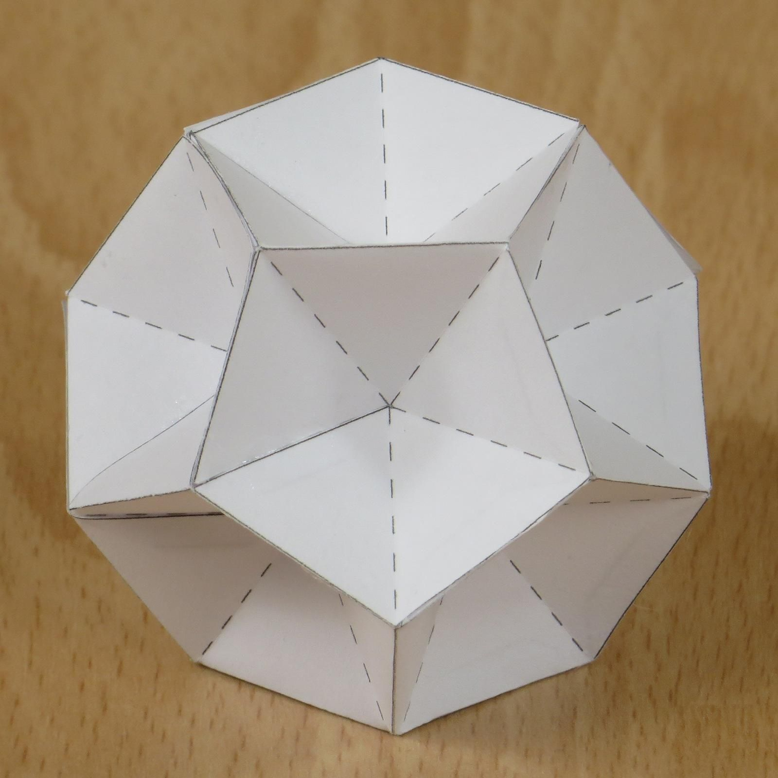 third stellation of the icosahedron | Ideas | Paper models ... - photo#48