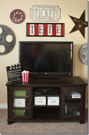 Sew Dang Cute Idea Hopefully My New House Will Have A Media Room Theater Room Decor Living Room Theaters Movie Room Decor
