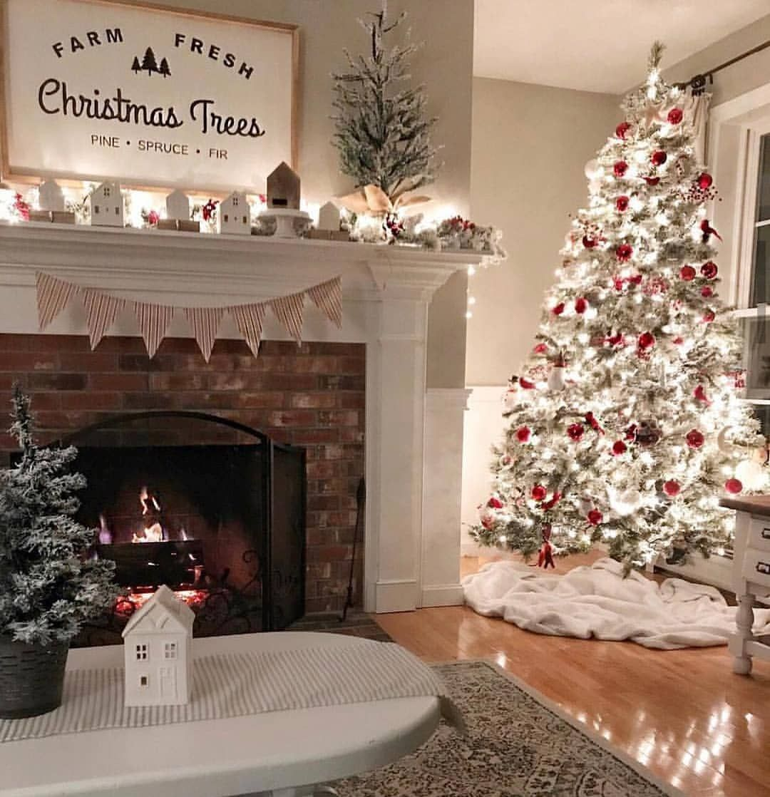 Holly Jolly Christmas On Instagram We Have Lots Of Lights On My Chri Christmas Apartment Christmas Mantel Decorations Christmas Decorations Living Room