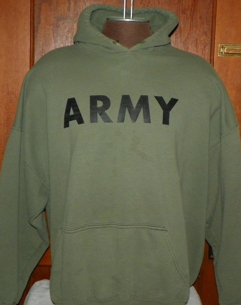 Gildan green hooded sweatshirt hoodie size 3xl says army