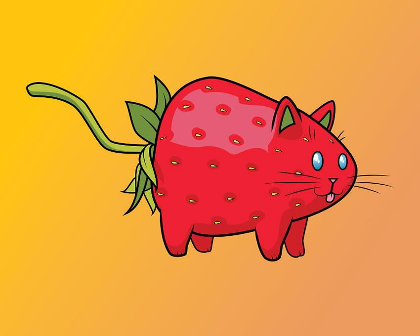 Playful Illustrations Combining Cats And Food By Samantha Moore