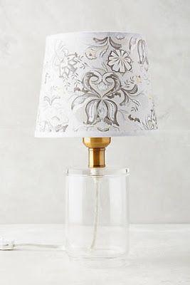 Anthropologie Lamp Glass Lamp Unique Table Lamps
