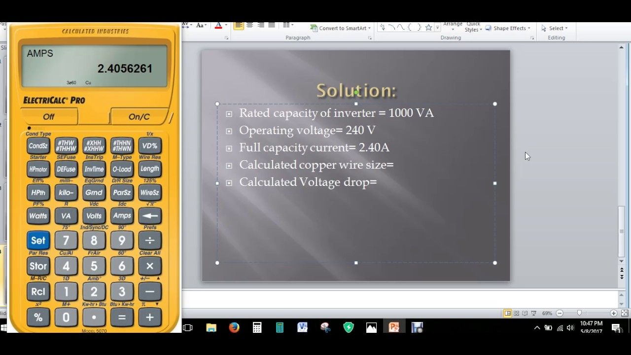Calculation of Cable Size of a Solar Panel Installation