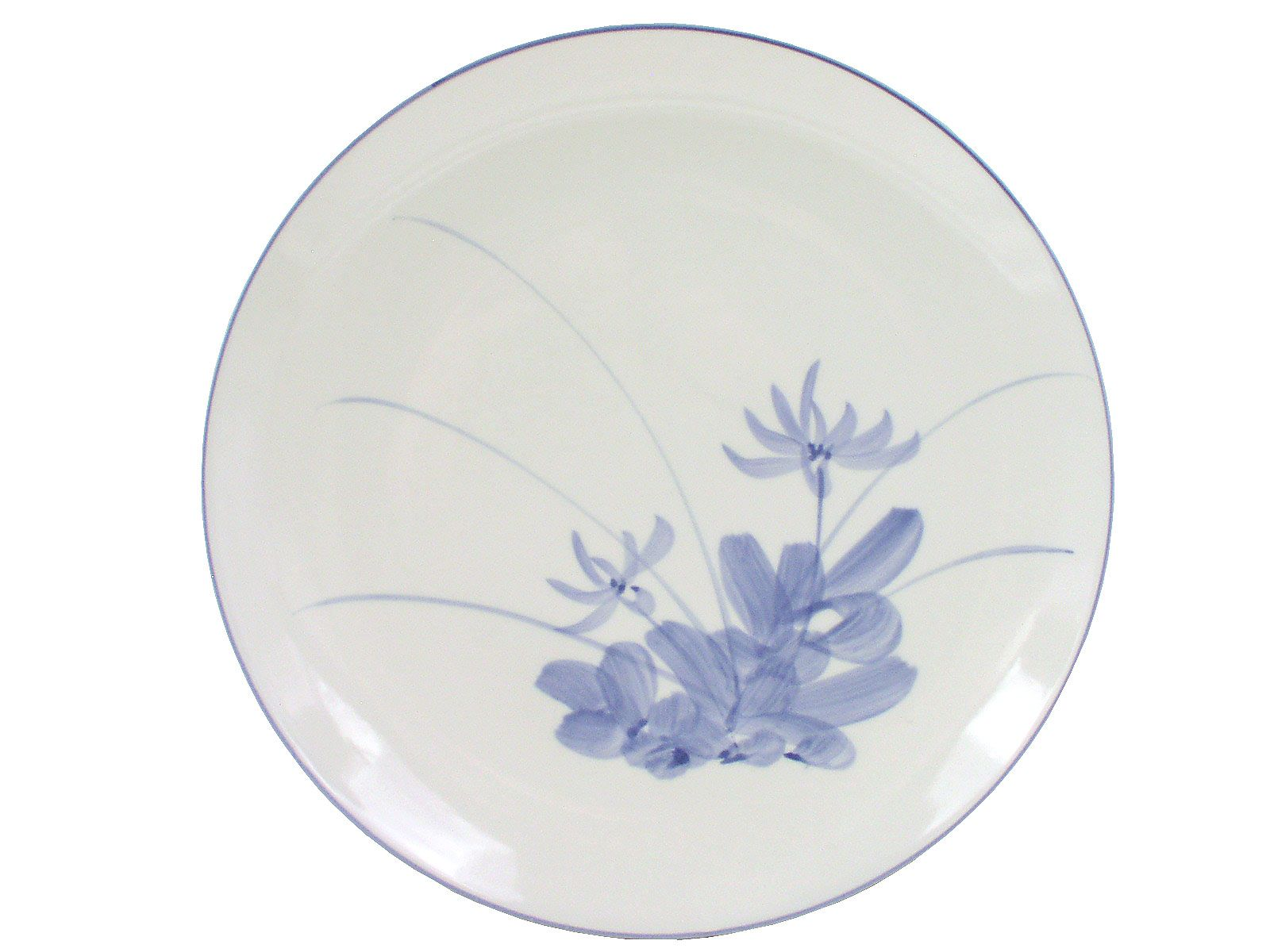 Blue and White Lotus Blossom Porcelain Serving Plate