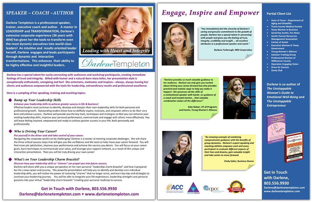 Professional speakers one sheet and graphic design services professional speaker one sheet samples and graphic design services pronofoot35fo Images