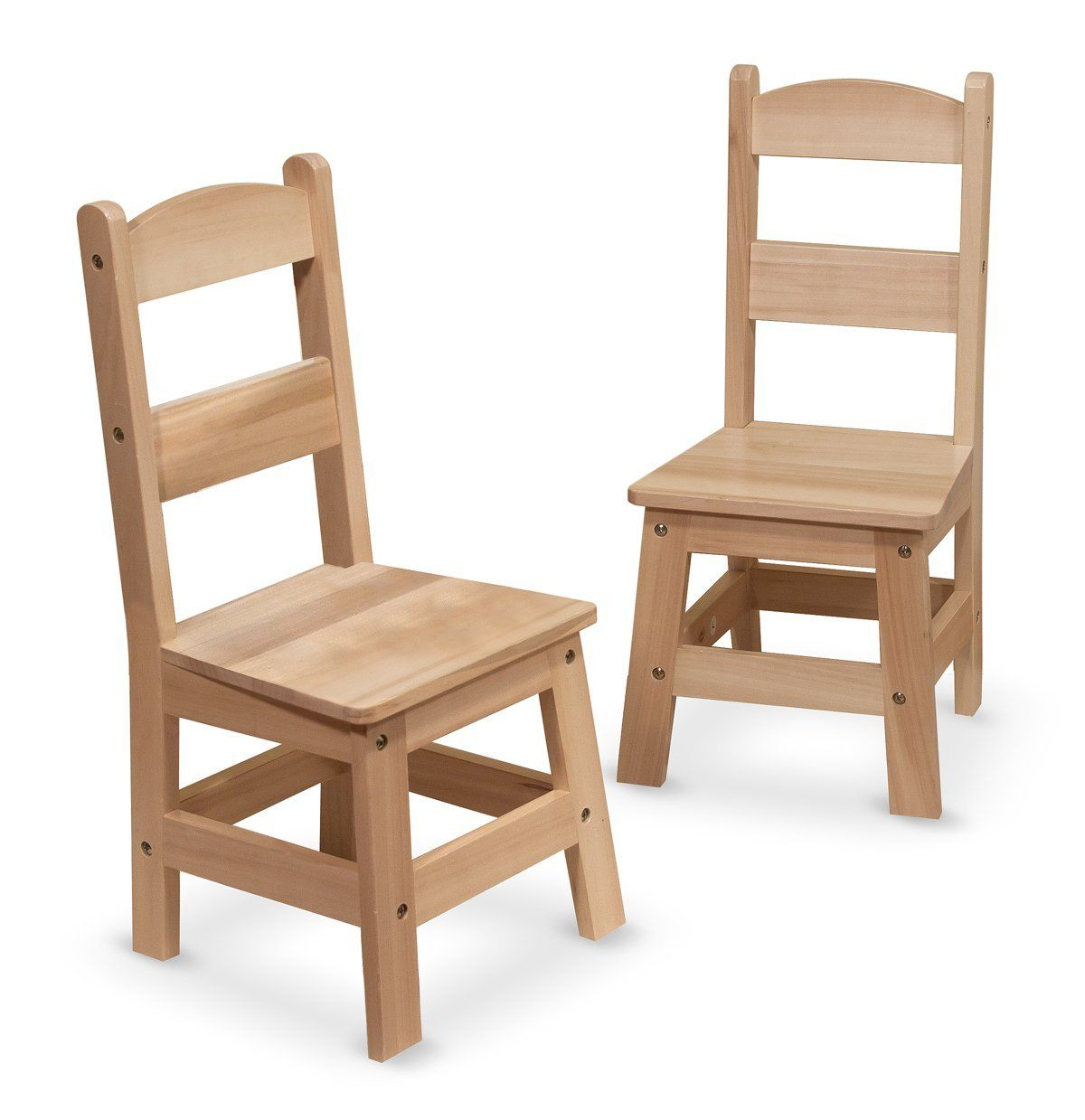 Exceptional Melissa U0026 Doug Wooden Chairs, Set Of 2 These Two Easy To Assemble Hardwood  Chairs Have An Seat Height Thatu0027s Comfy For Kids  Plus Durable Solid Wood