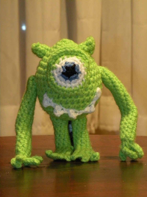 Pdf Mike Wazowski From Monster Inc Amigurumi Doll Crochet